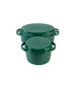 Žalias puodas, apvalus ir ovalus