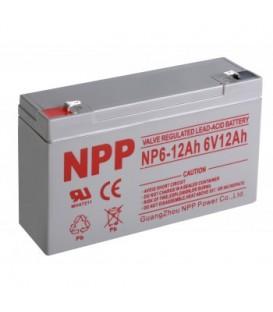 Akumuliatorius 6V 12Ah T2(F2) Pb AGM NPP