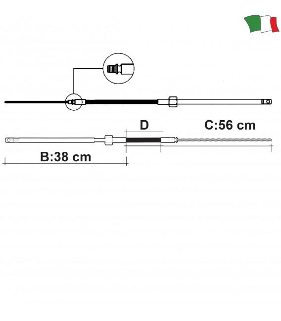 ULTRAFLEX M58 vairavimo trosai iki 55AG