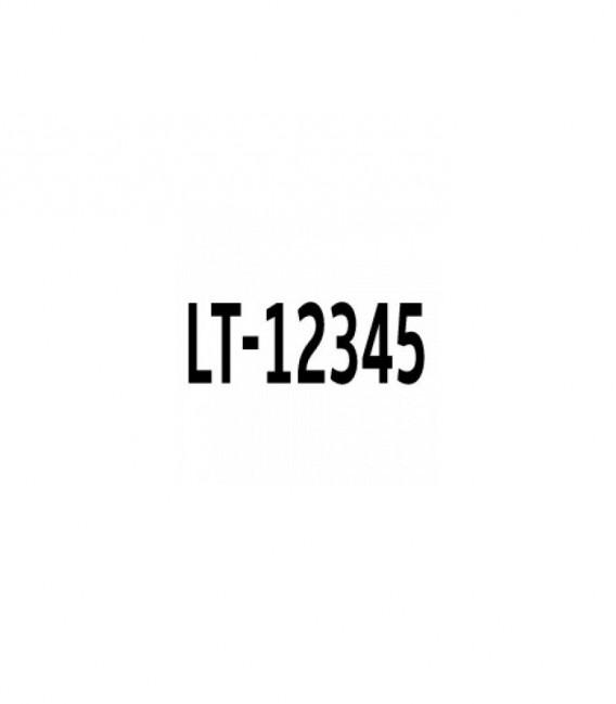 Valties registracijos numeris lipdukas