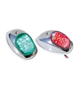 Navigacinės šviesos, žalia,raudona nerūdijantis plienas