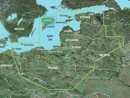 Bluechart g3 baltijos jūros rytų pakrantės padengimas