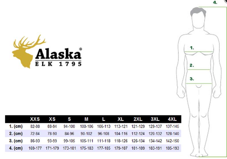 Alaska Size Chart